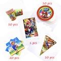 51 шт./лот Super Mario тема День Рождения вечерние украшения поставок чайная чашка, китацский, флаг Скатерть одноразовая посуда набор питания