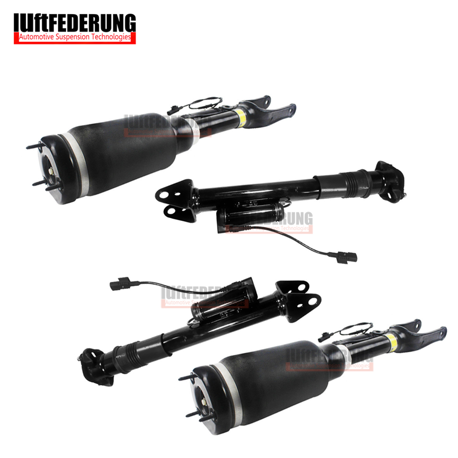 Luftfederung Mercedes W251 2pcs Front + 2pcs Rear Air Spring Suspension Air Shock Absorber Assembly 2513203113 2513201931 air ride suspension rear air spring bag assembly shock for hummer h2 2003 2008 manufacturer part no 15938306