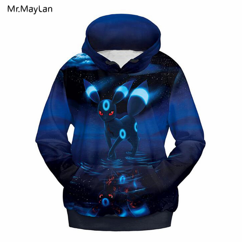 3D Hoodies Print Cartoon Pokemon Men Women Streetwear Pullover Hooded Sweatshirts Hip Hop Casual Tops Jackets Coat