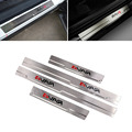 4PCS Silver Stainless Steel Door Sill Car Styling Covers Strip Welcome Pedal Trim For Toyota RAV4 2013-2015 Auto Accessories