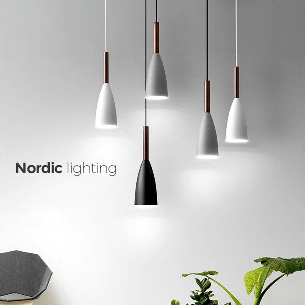 Nordic Simple Pendant Light E27 LED Modern  Led Hanging Lamp For Bedroom Living Room Lobby Restaurant Bar Art Creative Lightings