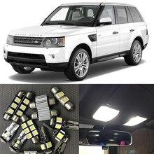 16 pces carro novo conduziu o jogo interior canbus nenhum erro mapa dome lâmpada de luz da placa de licença para 2006-2012 land rover range rover sport