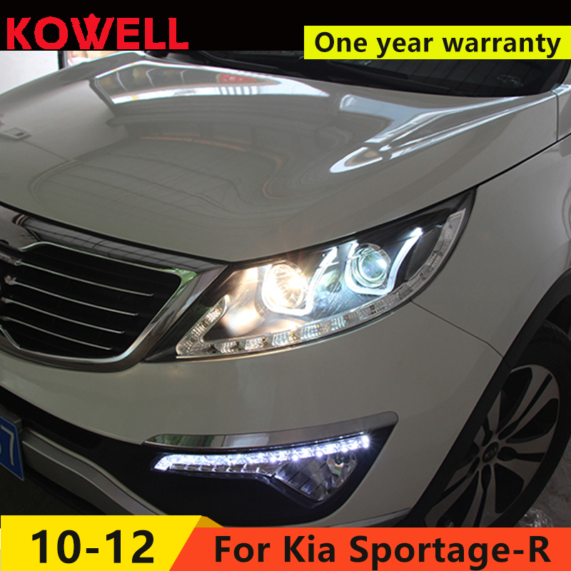 KOWELL Car Styling For KIA SPORTAGE R Headlights LED Headlight with double U DRL Bi Xenon Lens HID Automobile Accessories-in Car Light Assembly from Automobiles & Motorcycles    1