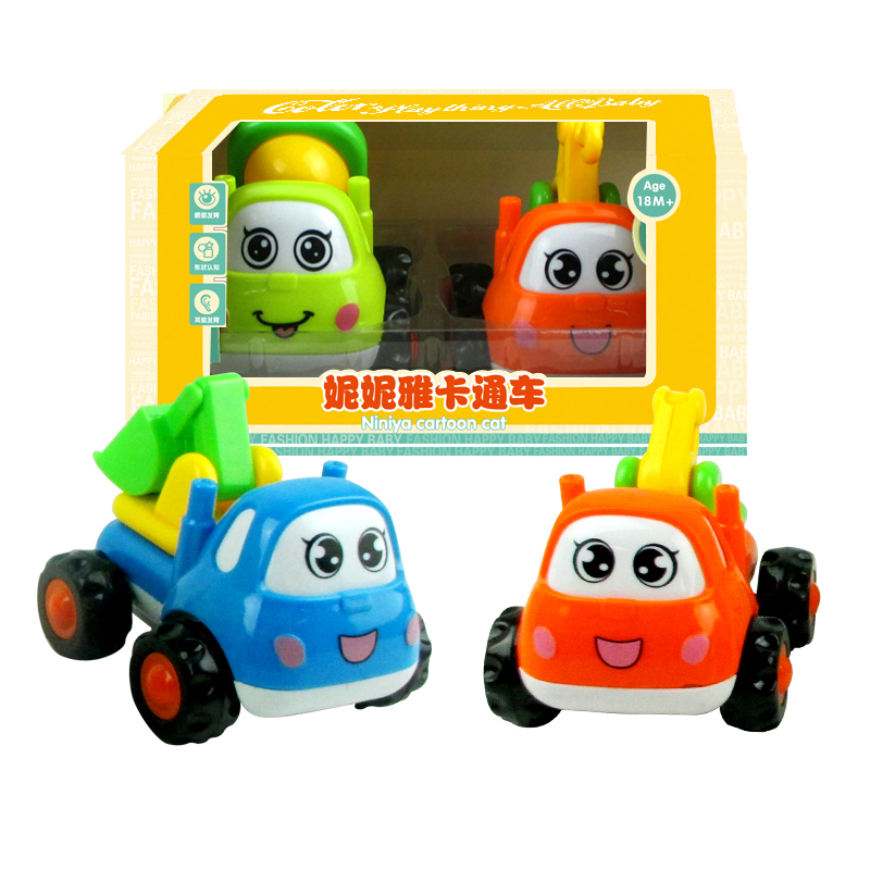 Us 8 84 39 Off Inertial Car Cartoon Engineering Vehicle Machineshop Truck Safe Material Car Toys For Kids For Children In Diecasts Toy Vehicles