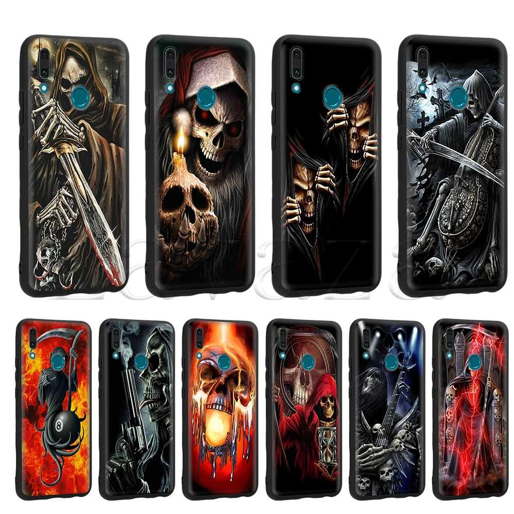 Lavaza Grim Reaper Skull Skeleton Case for Huawei Mate 10 P8 P9 P10 P20 P30 Y7 Y9 Lite Pro P Smart Mini 2017 2019 2018