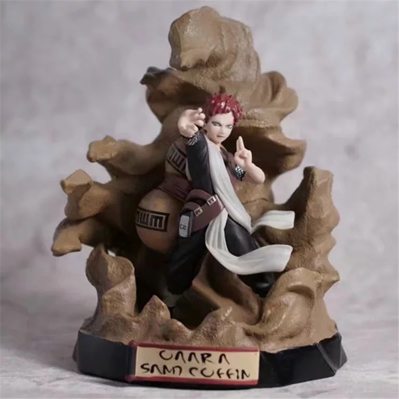 Anime Naruto Shippuden Kazekage Gaara Sand Coffin PVC Action Figure Statue Collection Model Toys Doll 22cm Аниме