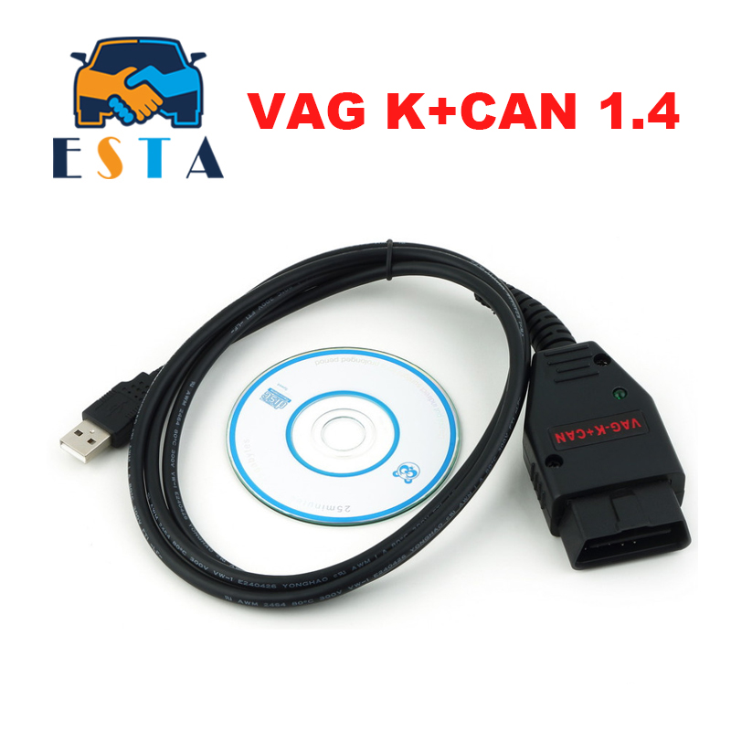 VAG K+CAN Commander 1.4 Obd2 Diagnostic Scanner Tool OBDII VAG 1.4 /18.9/19.6.1 COM Cable For Vag Scanner Hot Selling