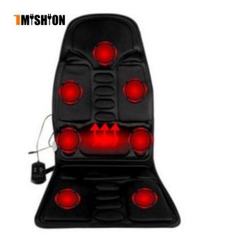Nowy 7 turbiny masażer elektryczny krzesło samochodowe fotele do masażu siedzenia wibrator powrót szyi massagem poduszka termofor żelowy do talii massagea tanie i dobre opinie TMISHION