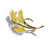 Richight 850380 Classic Zircon Wheatear Brooch Rhinestone Brooches Women Luxury Designer Brooch Jewelry Enamel Pins