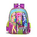 2016 New Kids Lovely Cartoon My Little Pony Schoolbag Girls Lightening Backpack  for Kids Children Back to School Gift Bags
