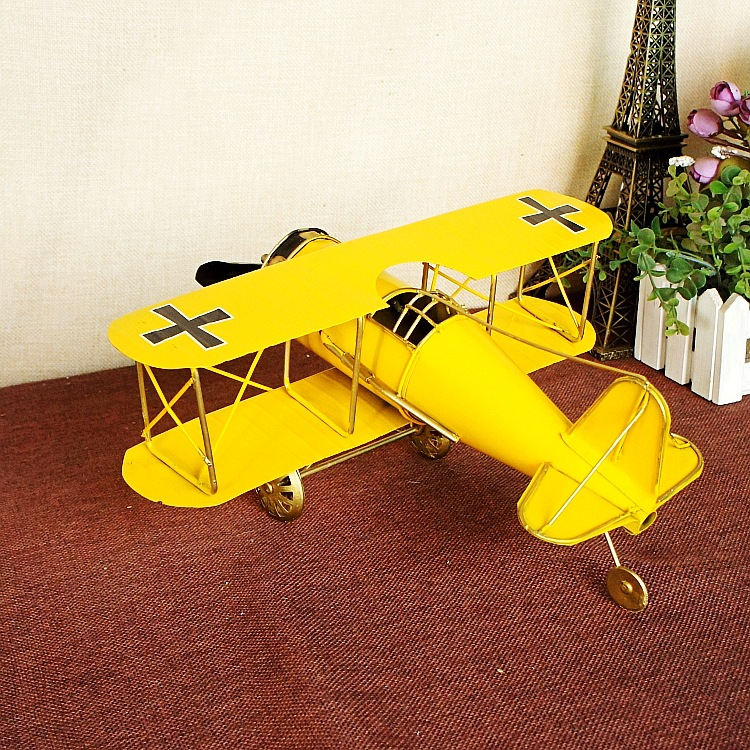 Tinplate World War II airplane model handmade office tabletop furnishing home decoration craft gifts photography props
