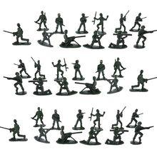 Шт. 100 шт. набор аксессуаров для детей военный Солдат модель солдат фигурка игрушка