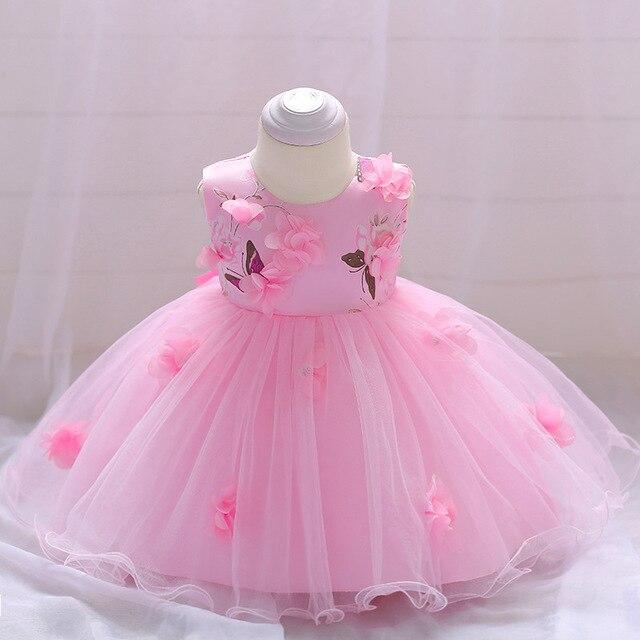 9ed61eb297ff Cute Baby Girl Dress Summer 2018 Flower Baby 1st Birthday Wedding Party  Dress Christening Dress for Baby Girls Clothes Vestidos