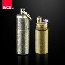 Оригинальная зажигалка IMCO, винтажная бензиновая керосиновая Зажигалка из натуральной латуни, зажигалка для сигар, зажигалка для бензина