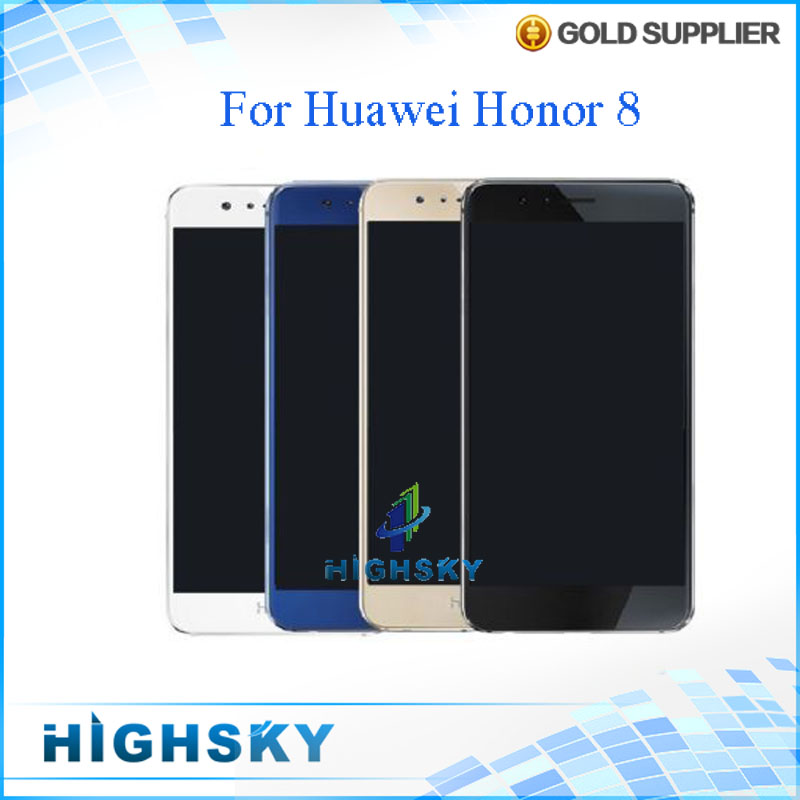 ФОТО 100% Tested Screen For Huawei Honor 8 LCD Display With Touch Digitizer Glass Full Aseembly 5.2 inch 1 Piece Free Shipping