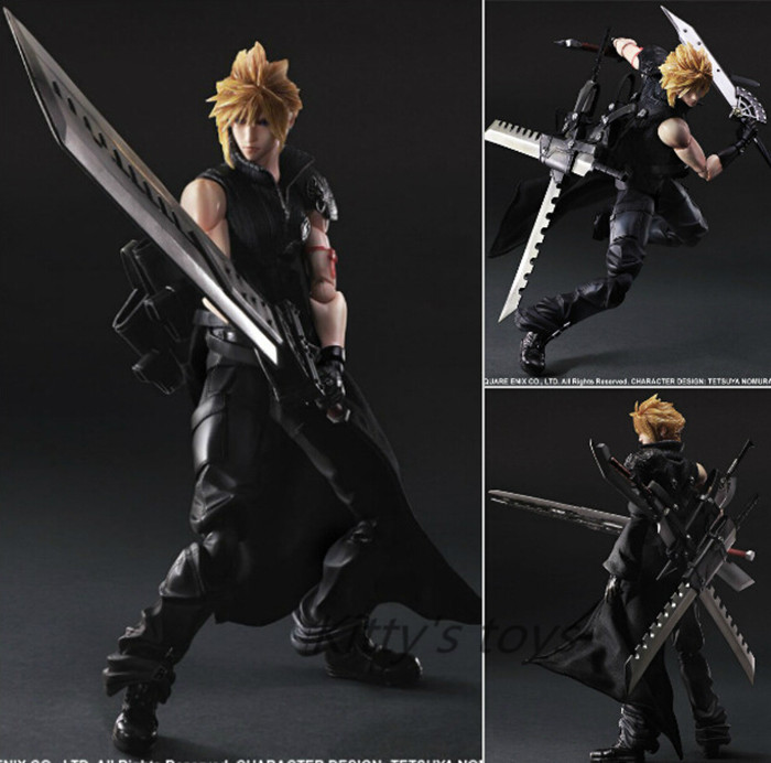 Final Fantasy Play Arts Kai Action Figure Cloud Strife Collection Anime Model Toys Final Fantasy Playarts Kai 270MM KA0481 halo 5 guardians play arts reform master chief action figure