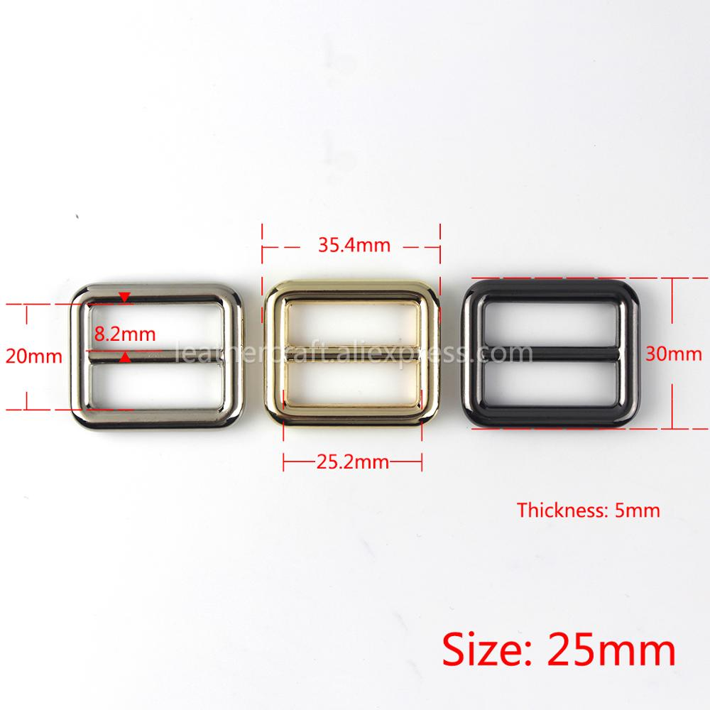 """Tri-Glide Buckle 3Bar Adjusters Slider Bag Belt Webbing Leather 1/"""" 1 1//4/"""" 1 1//2/"""""""
