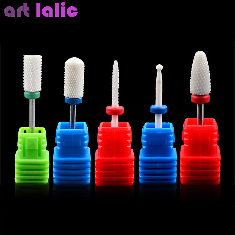 12 Type Ceramic Nail File Drill Bits Manicure Machine Accessories Rotary Electric Nail Files Manicure Cutter Nail Art Tools