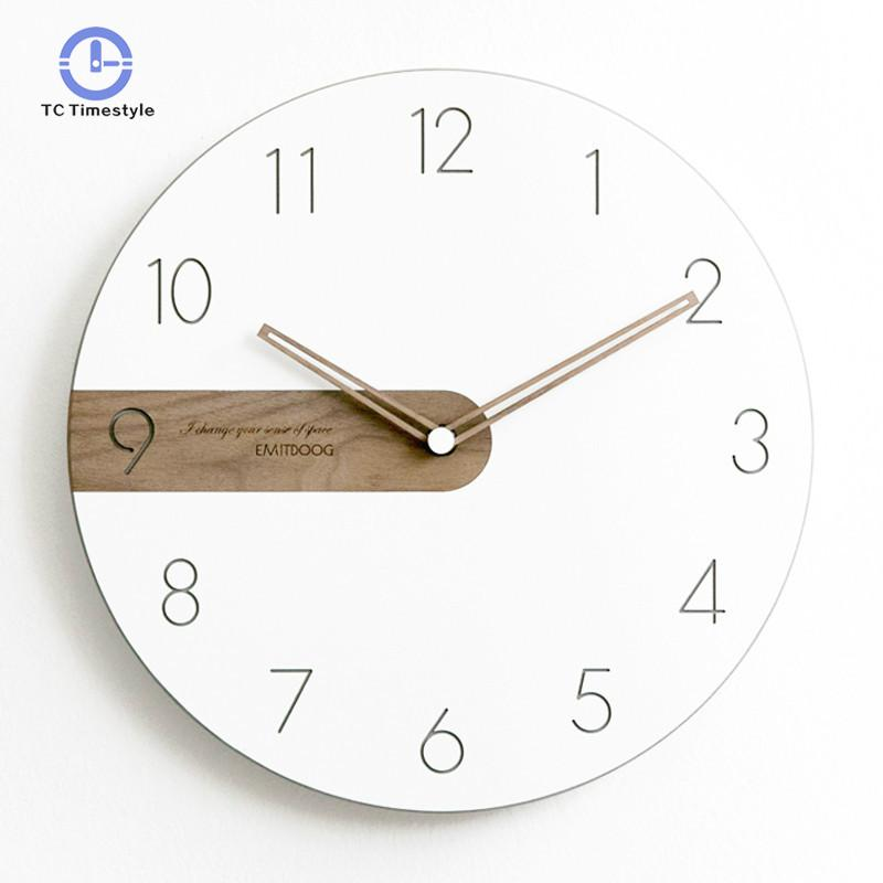 Wall Clock Modern Design Living Room Decoration Wall Watches Home Decor Single Face Needle Quartz Clocks For Home