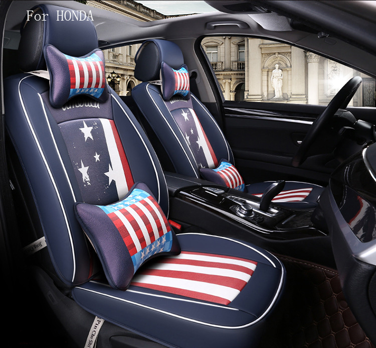 Brand Design Flag Pattern Pu Leather Car Seat Cover For