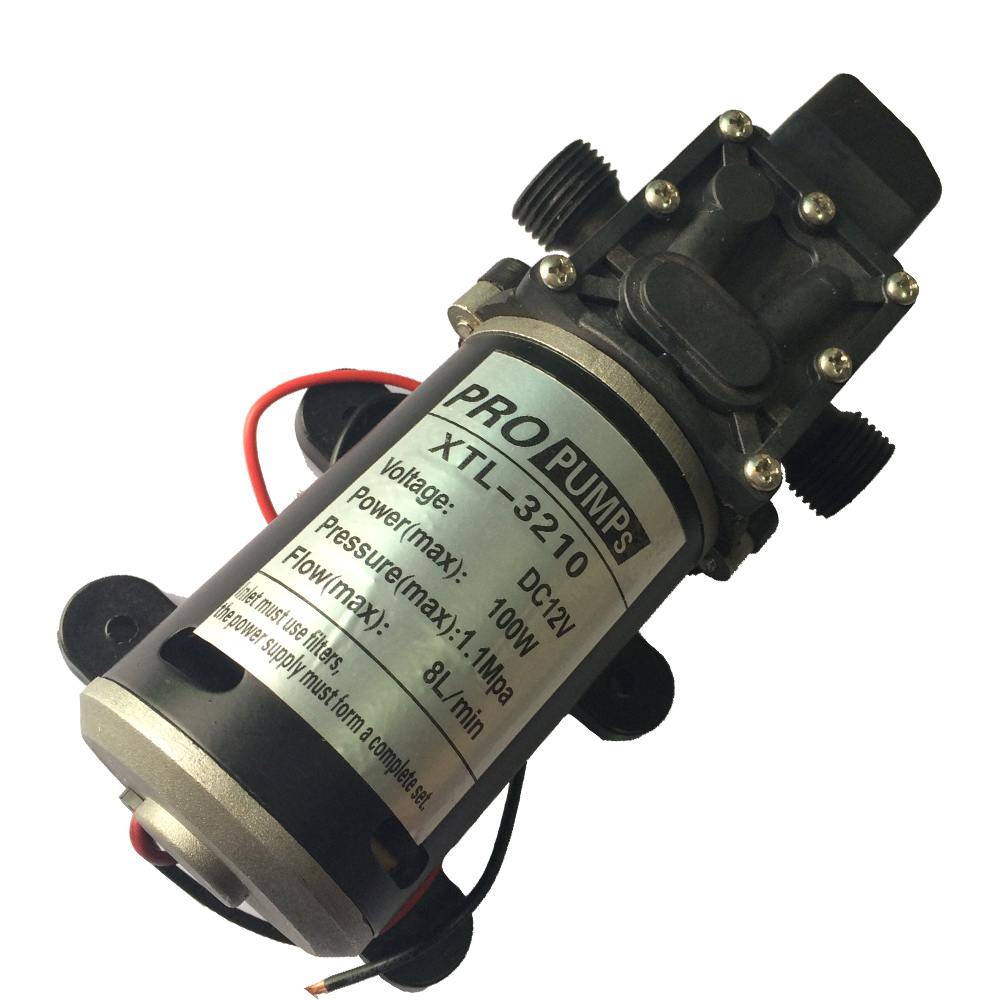 2pcs Micro electric diaphragm pump, High pressure water pump 3210YD 12V 100W 8L/Min, 1.1 MPa High pressure Self-Priming pump 8l m 170kpa pressure electric diaphragm brushless dc massage equipment pump