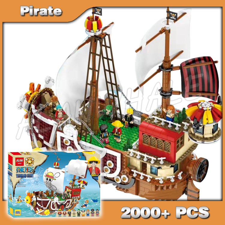 2000+pcs Movie Series Thousand Sunny Model Building Blocks Adventure Bricks Toys Compatible With Lago