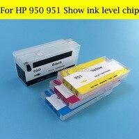 Оптовые поставки для HP950 951 заправка чернильные картриджи для HP Officejet Pro 276dw 8600 8100 с чипом уровня чернил