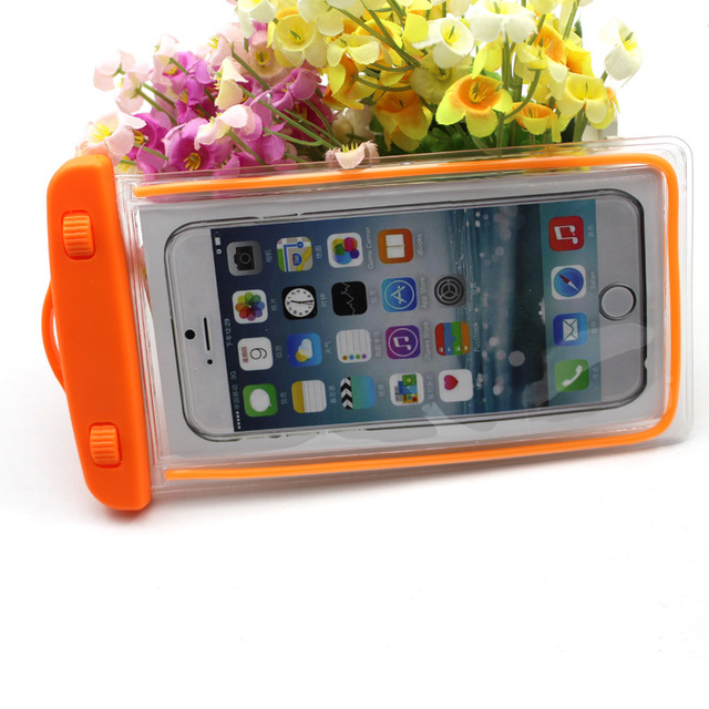 buy online dd5a8 a6362 US $0.68 |Waterproof Case Pouch Bag Fluorescence waterproof phone case  fashion PVC touch mobile accessories Smartphone sharing-in Phone Pouch from  ...