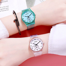 Coloful Transparent Silicone Girls Watches Students Wristwatch Fashion Casual Crystal Cartoon Watch Children Clock Boy gifts
