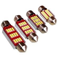 Гирлянда 31 мм 36 мм 39 мм 41 мм светодиодный светильник C5W C10W CANBUS без ошибок 12 SMD 4014 светодиодный внутренний купол карта лампа для чтения белый DC12V