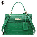 New Women Fashion Casual Party Bag Crocodile Platinum Solid Messenger Bag Soft PU Lady Bag BS518