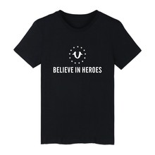 Ne Short Sleeve BELIEVE IN HEROES T-shirt ood looking and Durable Men/Women BELIEVE IN HEROES T-shirt with High quality