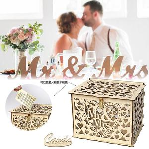 DIY Wedding Gift Card Box Wooden Money B