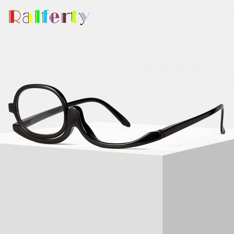 Ralferty Reading Glasses Women 1 Lens Rotatable Makeup Presbyopia Glasses For Sight Optic Eyewear +1.0/1.5/2.0/2.5/3.0/3.5/4.0