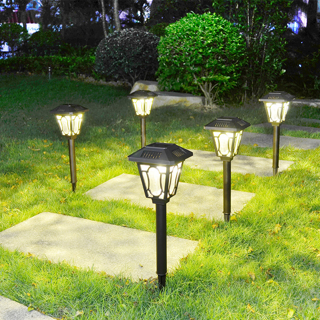 Gl Solar Path Lights Led Garden Stake Light Lawn Aluminum Lamp For Outdoor Landscape Yard Patio Deck Pathway Hallway Gardens