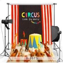 Circo MEHOFOTO Cenários de Fotografia Vinil pano de Fundo Para A Festa de Aniversário New Tecido de Poliéster para Crianças Photo studio S2073