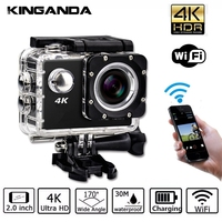 Waterproof Ultra HD 4K UHD Action Sport Video Camera WiFi Camcorder FHD 1080P DV Cam Wide Angle Go Deportiva 2 inch LCD Pro 32G
