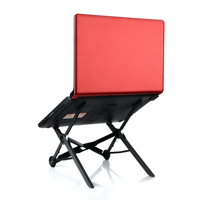 Foldable Laptop Stand Lapdesk Height Adjule Office Notebook Pc Ergonomic Folding Holder P10