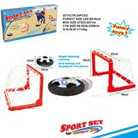 LED Air Power Training Ball Soccer Football Goal Set Hover Ball With 2 Gates D30