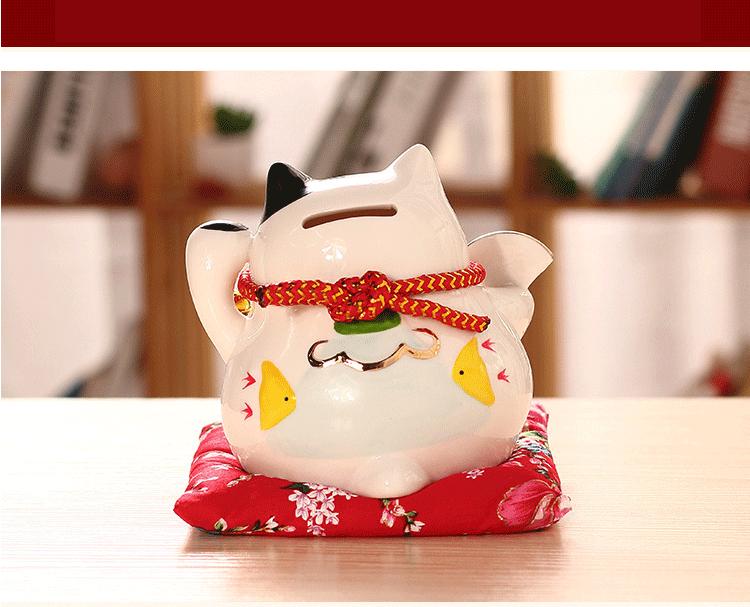 negócio fortuna gato caixa de dinheiro fengshui ofício