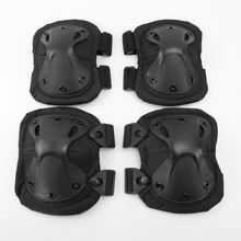 цена на Military US Army Tactical Paintball Airsoft Hunting Protection War Game Knee Elbow Protector Outdppr Knee Pads & Elbow Pads Set
