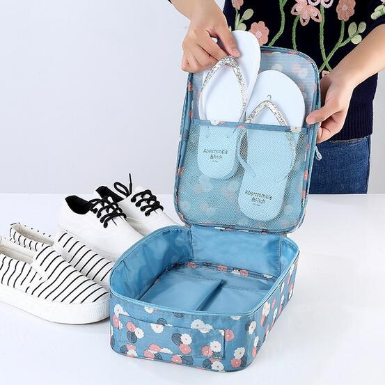 27df19a68 Travel Printing shoes box Swimwear organizer for sports Beach bag for  swimming flip flop organizer slipper box Breathable bag-in Storage Boxes    Bins from ...