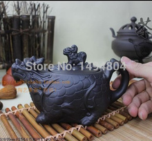 Tee-Set Yixing Teekanne 370 ML Chinesische Teekanne, echte Erz Lila Ton Drachen Teekanne, Kung Fu Teaset Tee-Sets, Tee Wasserkocher