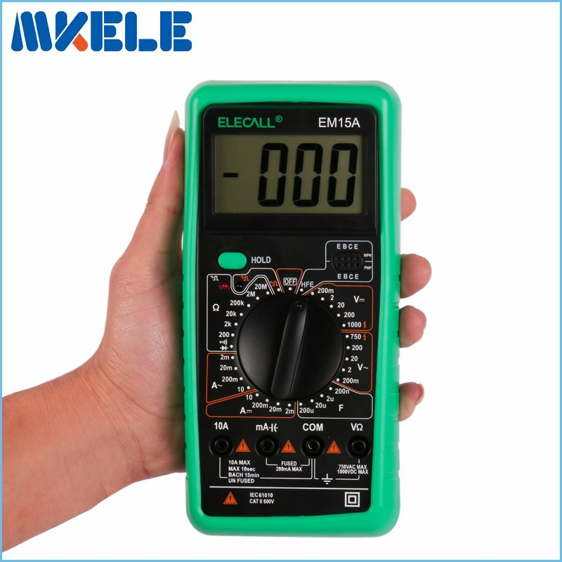 Free shipping EM15A 2000 Counts mastech diagnostic-tool multimetro LCD Display AC/DC Current Testing Digital Multimeter aneng current multi meter an8207l digital multimeter 2000 counts handheld multimeter lcd display ac dc current testing