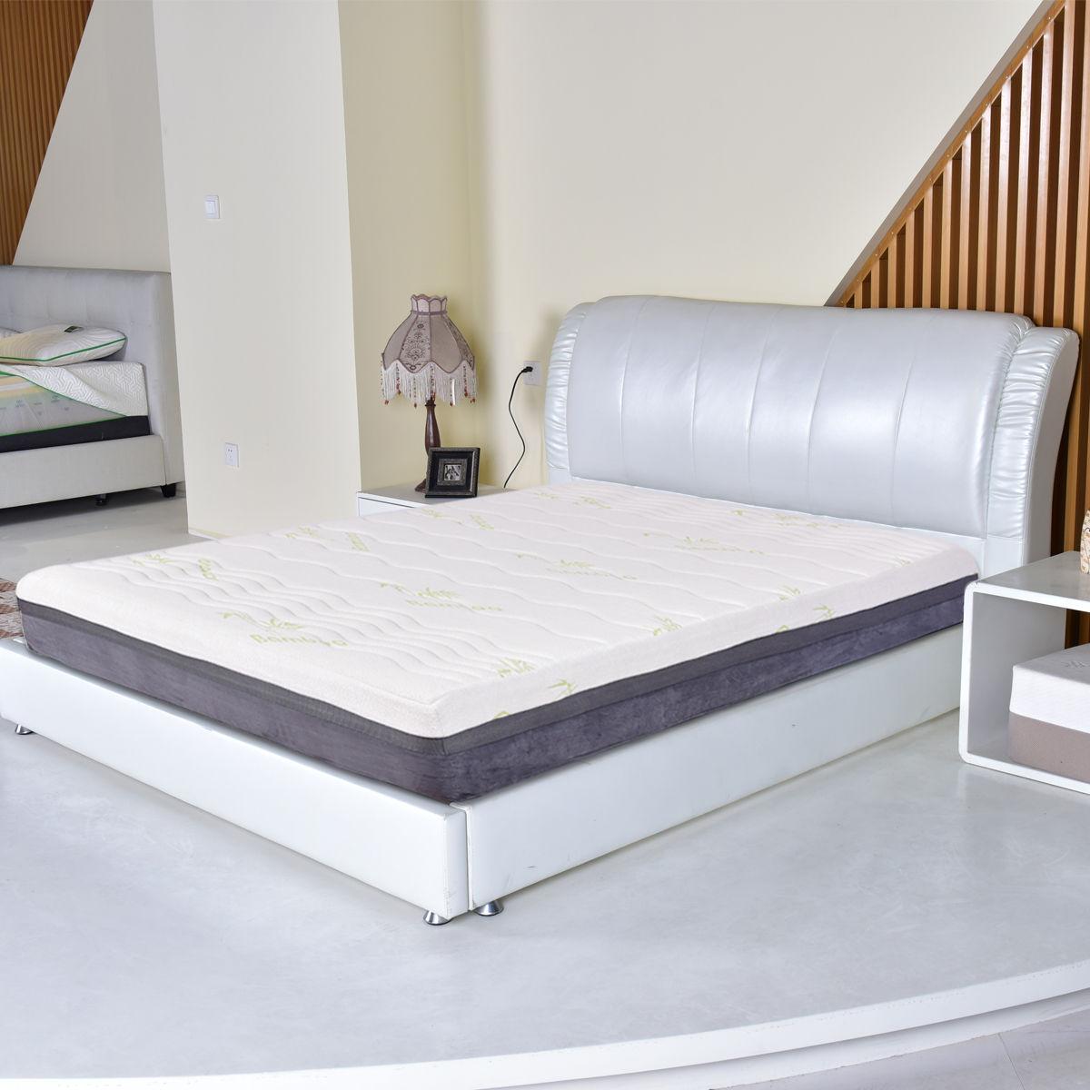 Giantex King Размеры 10 пены памяти матрас высокое качество бамбуковое волокно наматрасник спальня Толстая кровать Топпер HT0968K