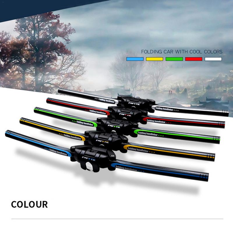 Portable High Quality Aluminum Alloy 6061 Bicycle Folding Handlebar Mountain Bike MTB Handlebars 25.4mm/31.8mm* 620mm giza ghost 3 mtb bicycle 6061 aluminum alloy frame 26 wheel 16