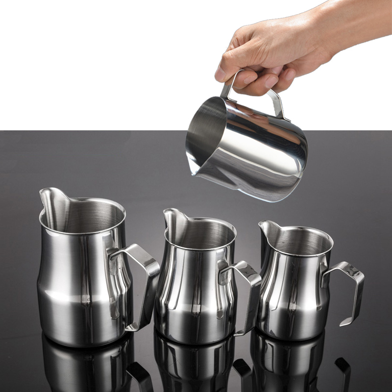 Stainless Steel Milk Frothing Jug Coffee Pitcher Latte Art 1pcs/lot  Cup Capacity 150ml / 350ml / 600ml / 1000ml JJA003
