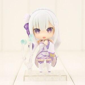 Image 3 - 10cm anime re: vida em um mundo diferente do zero emilia figura 751 q versão pvc figura de ação colecionável modelo de brinquedo