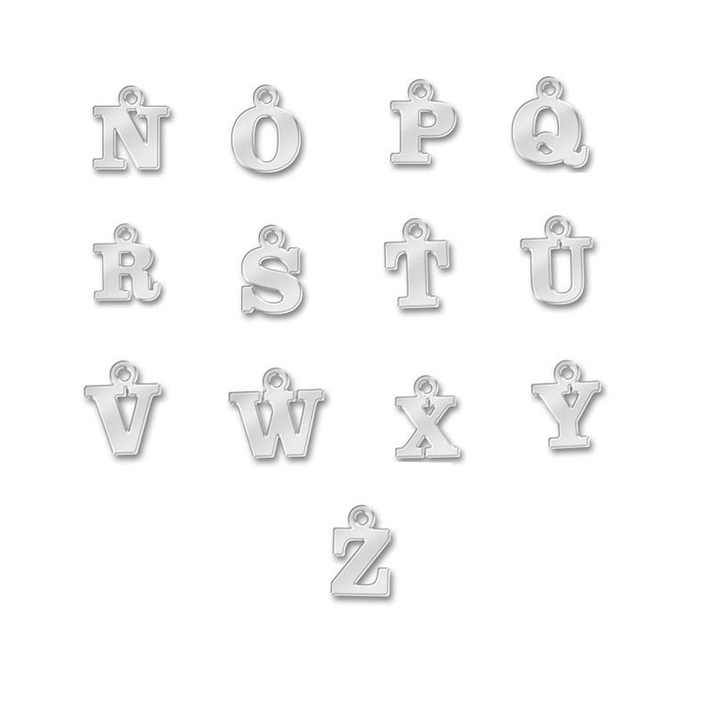 Myshape Алфавит Начальная буква N до Z Античные Серебристые Подвески буква из цинкового сплава металлический кулон Ювелирное Украшение Оптовая Продажа 30 шт|Шармы|   | АлиЭкспресс