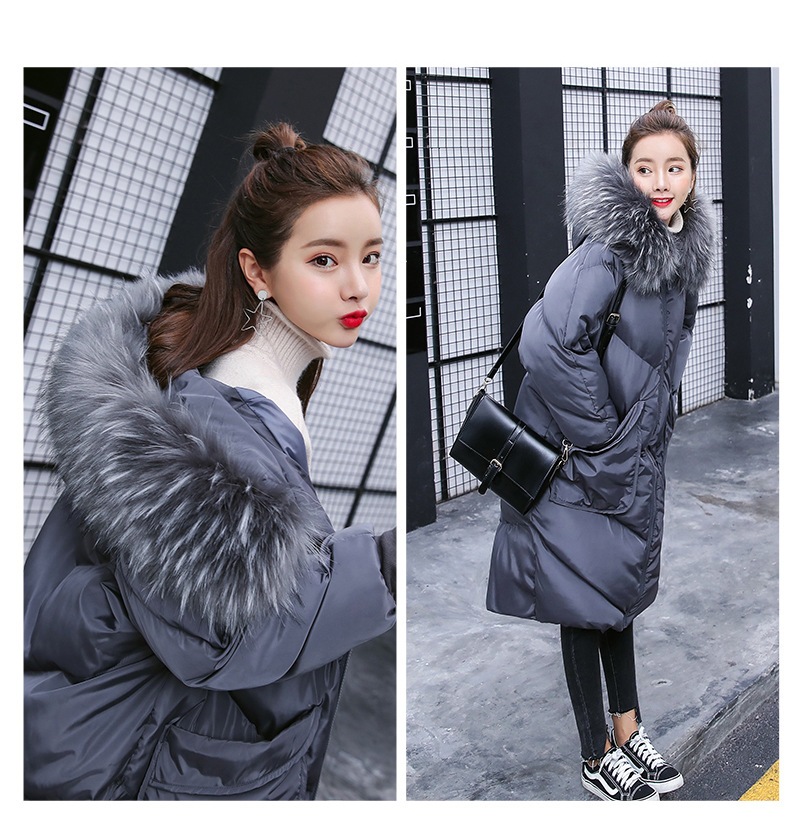 Maternity winter coat Pregnant women pregnant women cotton Black coat large size coat tide tan collar thick long hooded jacket pregnant women autumn and winter new windbreaker jacket pregnant women loose casual jacket pregnant women long cotton coat
